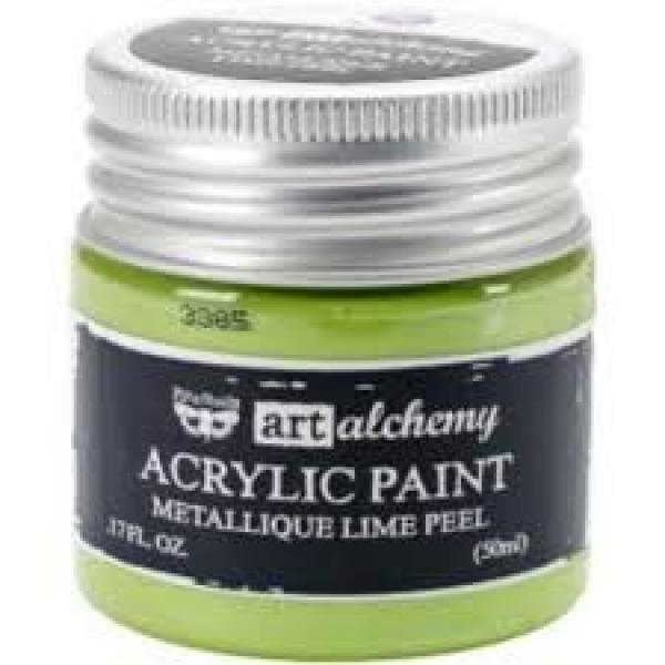 Prima Marketing Art Alchemy Acrylic Paint - Metallique Lime Peel