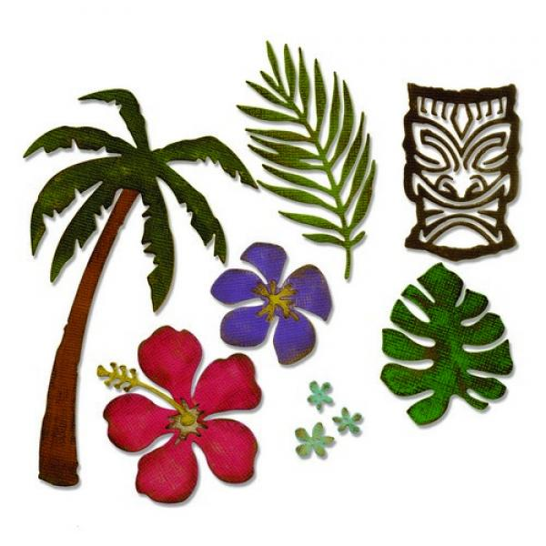 Lõiketera Sizzix Thinlits Die Set - Tropical