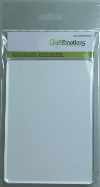 CraftEmotions block for clearstamp 105x148mm 8mm
