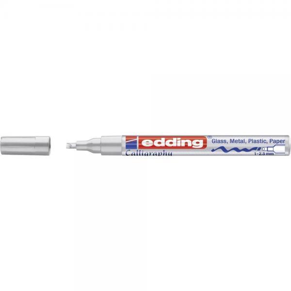 Kalligraafiamarker Edding 1-2,5mm hõbe/10