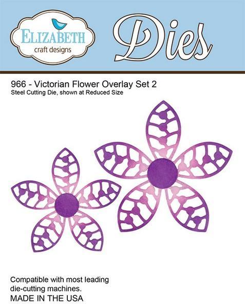 Lõiketera Elizabeth Dies Victorian Flower Overlay Set 2