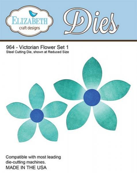 Lõiketera Elizabeth Dies Victorian Flower Set 1