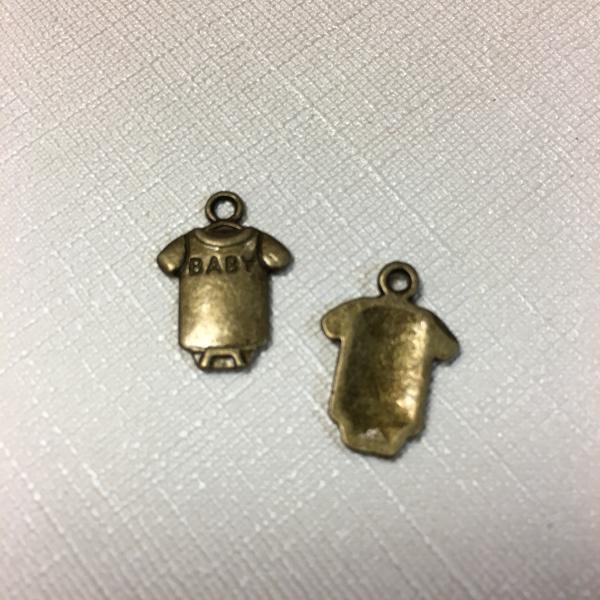 Metallist beebi body 1tk, pronks 18x13mm