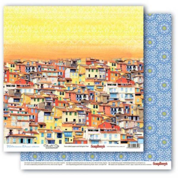 Disainpaber 30x30 ScrapBerry's Mediterranean Dreams Colourful City