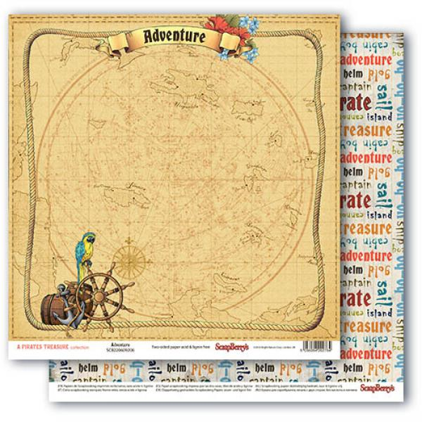 Disainpaber 30x30 ScrapBerry's The Pirate's Treasure Adventure