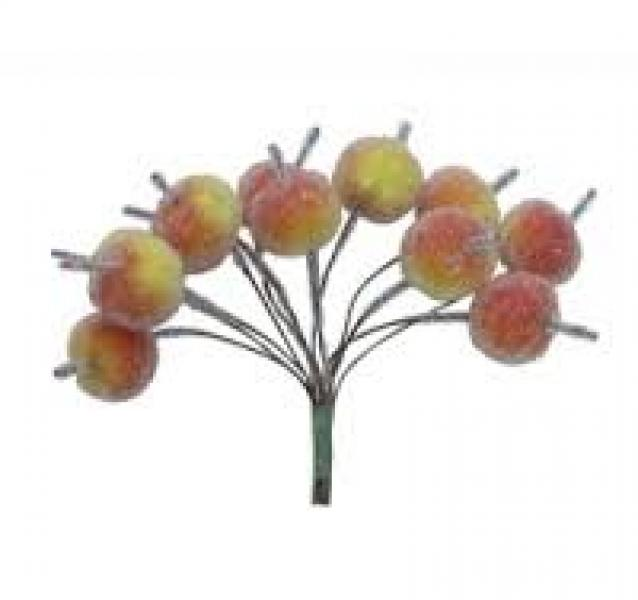 Hobby and You Apples beads 12pcs