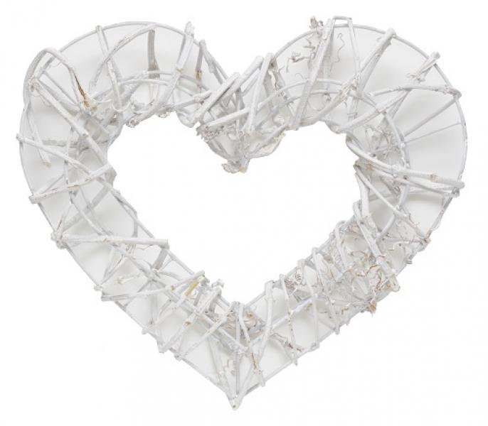 ScrapBerry's Rattan heart wreath 32x29cm