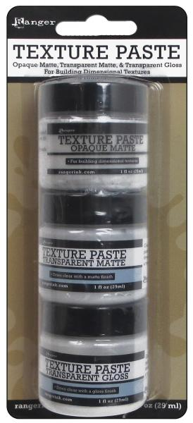 Ranger Texture Paste Opaque, transaparent matte, transparent gloss