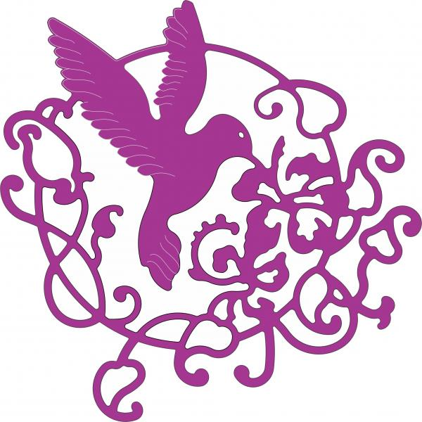 Cheery Lynn Designs Dies - Lace Hummingbird Flourish