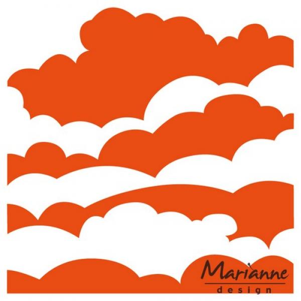 Tekstuurplaat Marianne Design Embossing folder clouds 14,5x19cm