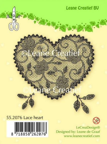 Tempel LeCrea - Clear stamp Lace heart