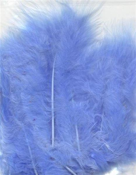 Hobby & Crafting Fun Feathers Marabou blue 15pcs