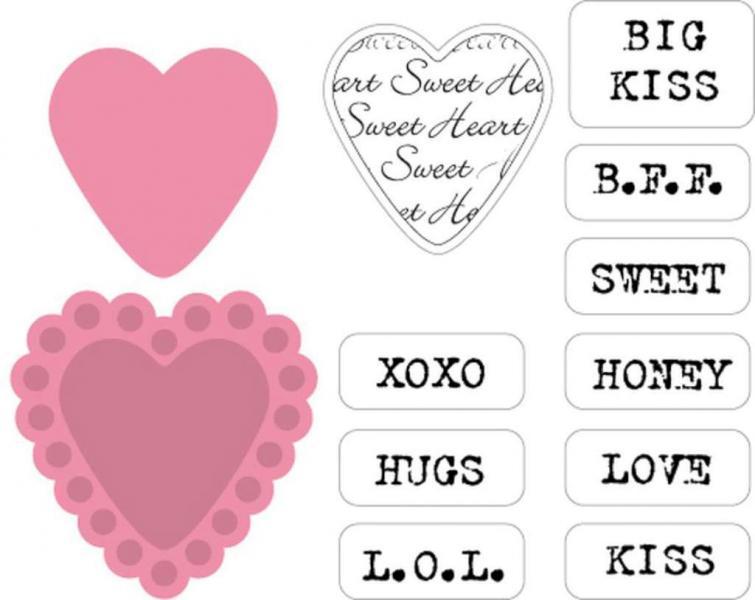 Lõiketera Marianne Design Sugar hearts