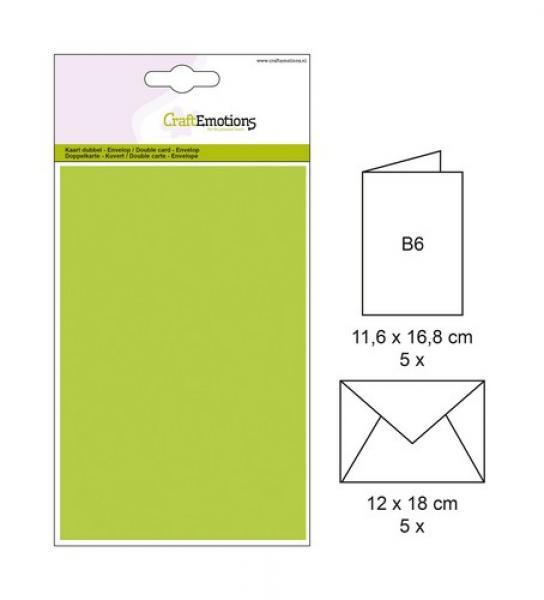 Ümbrik + kaarditoorik 16,8x11,6cm 5tk heleroheline