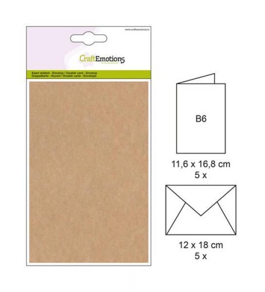 Ümbrik + kaarditoorik 16,8x11,6cm 5tk kraft browny