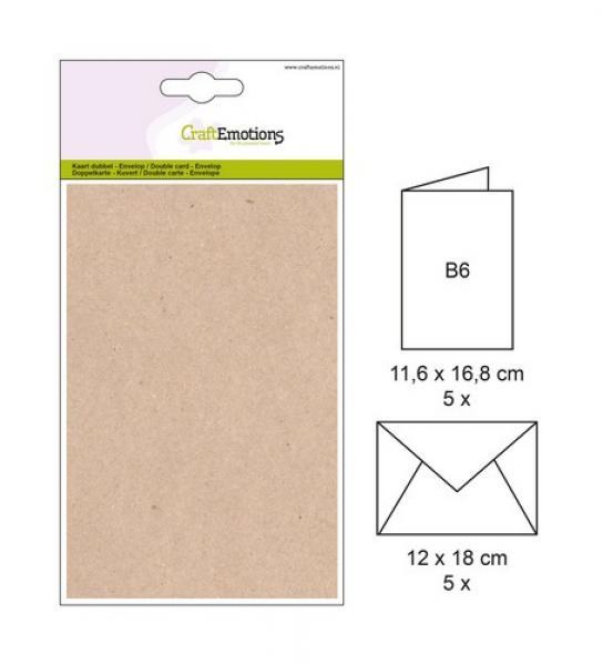 Ümbrik + kaarditoorik 16,8x11,6cm 5tk light browny