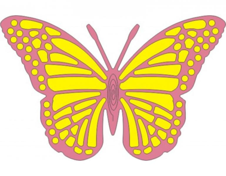 Cheery Lynn Designs Dies - Exotic Butterfly Large #2