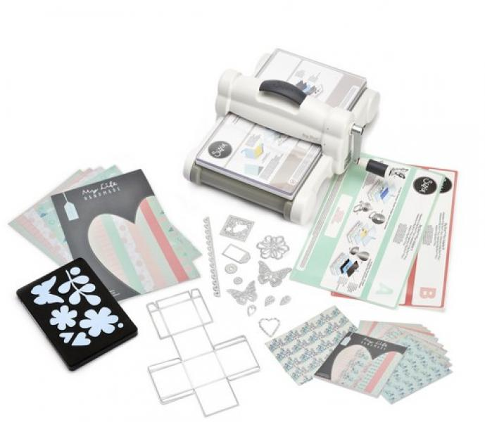 Sizzix Big Shot PLUS Starter Kit White & Grey ft. MLH