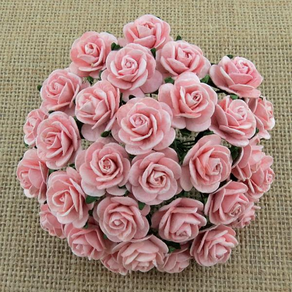 Paberlilled Pale Pink Roses MKX-005-25mm 5tk