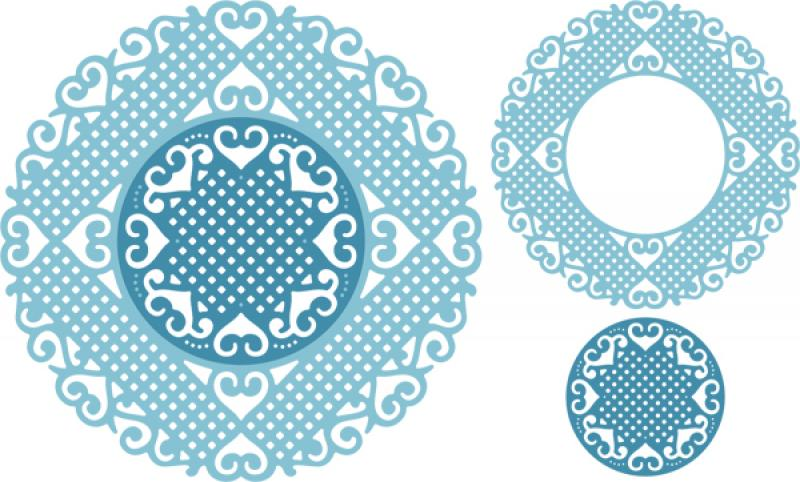 Cheery Lynn Designs Dies - Lords & Commons Doily (Set of 2)