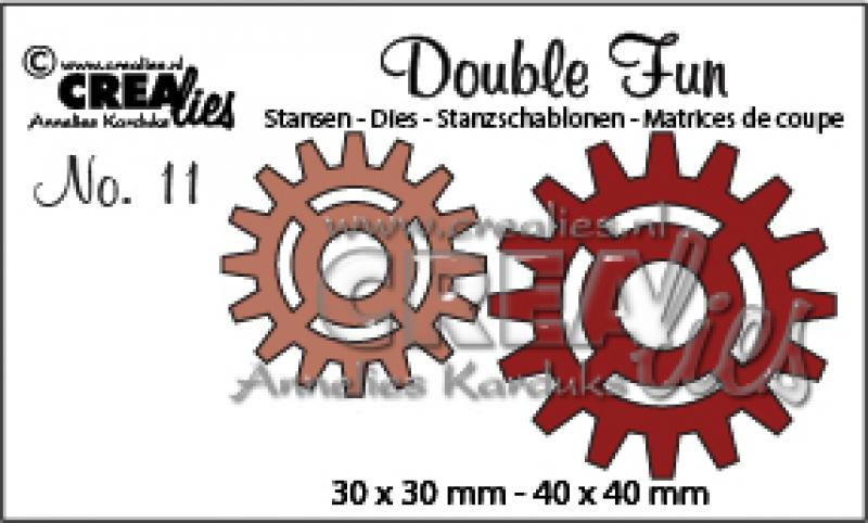 Crealies Double Fun No.11 gears