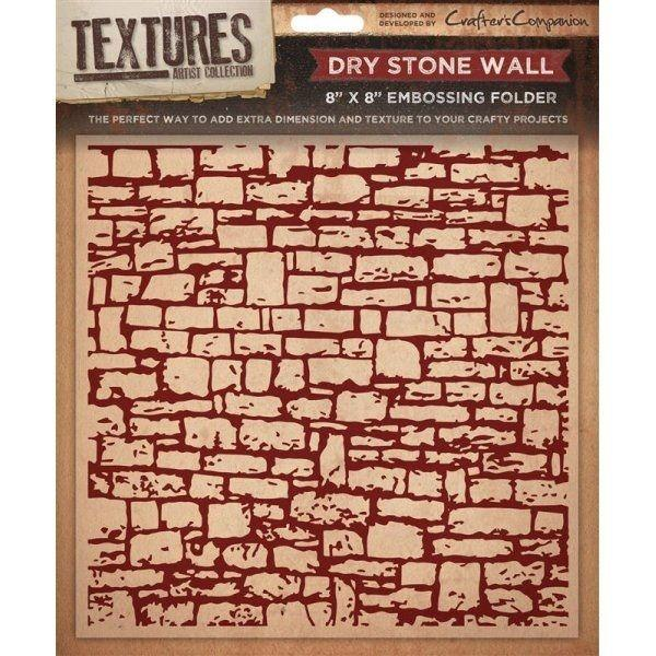 Tekstuurplaat 20x20 cm Crafter's Companion Dry Stone Wall