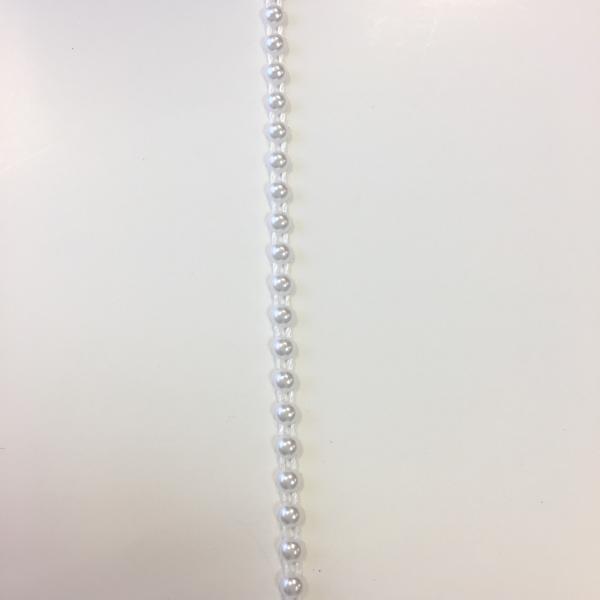 Poolpärlipael 3mm valge värvi 1m