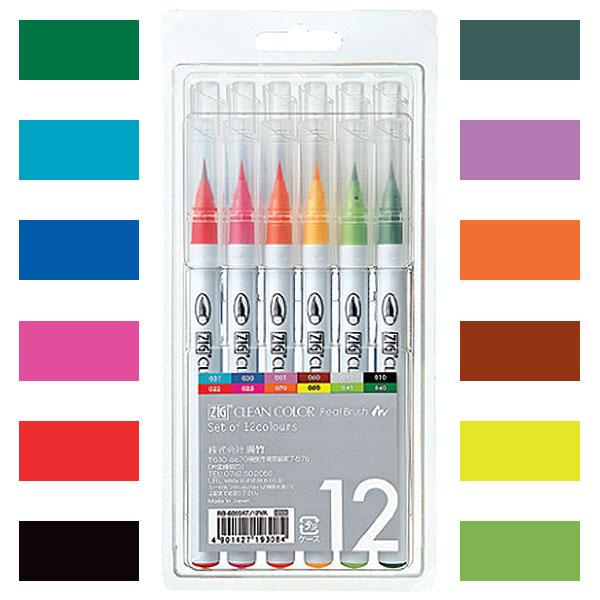 ZIG Clean Color Real Brush 12color set