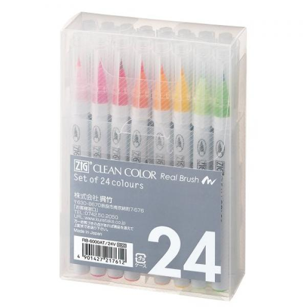 ZIG Clean Color Real Brush 24color set