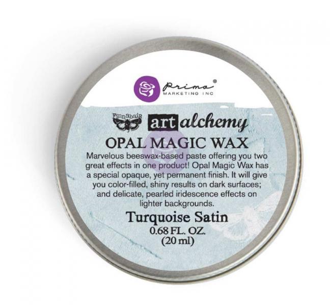 Prima Marketing Art Alchemy - Opal Magic Wax - Turquoise Satin