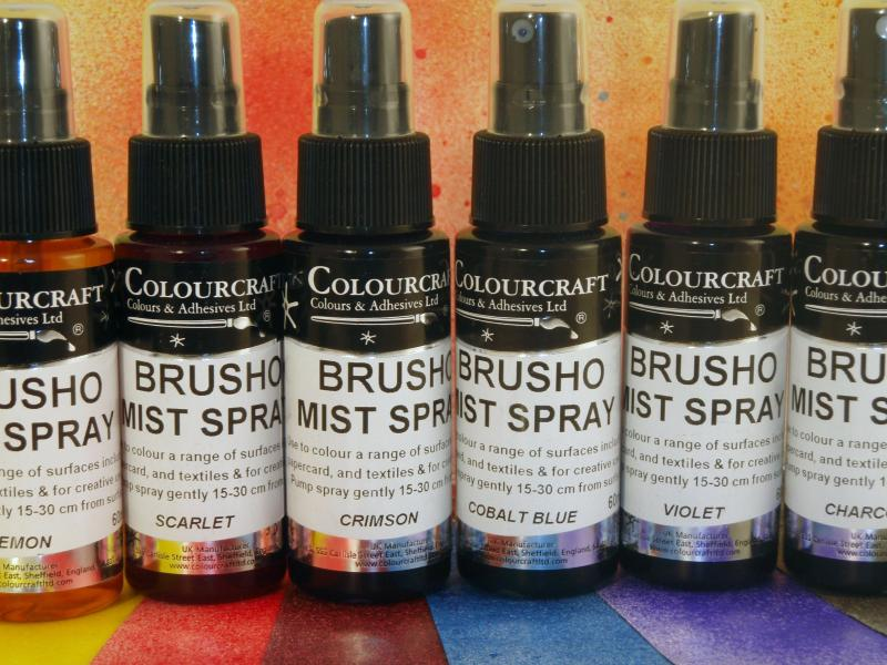ColourCraft Brusho Acrylic Mist Spray 60ml Charcoal
