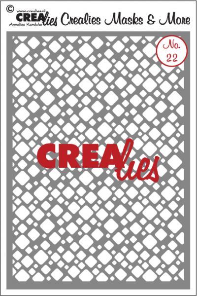 Crealies Masks & More no. 22 rounded squares CLMM22 A5