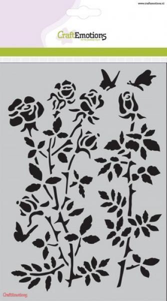 CraftEmotions Mask stencil Botanical Rose Garden A5