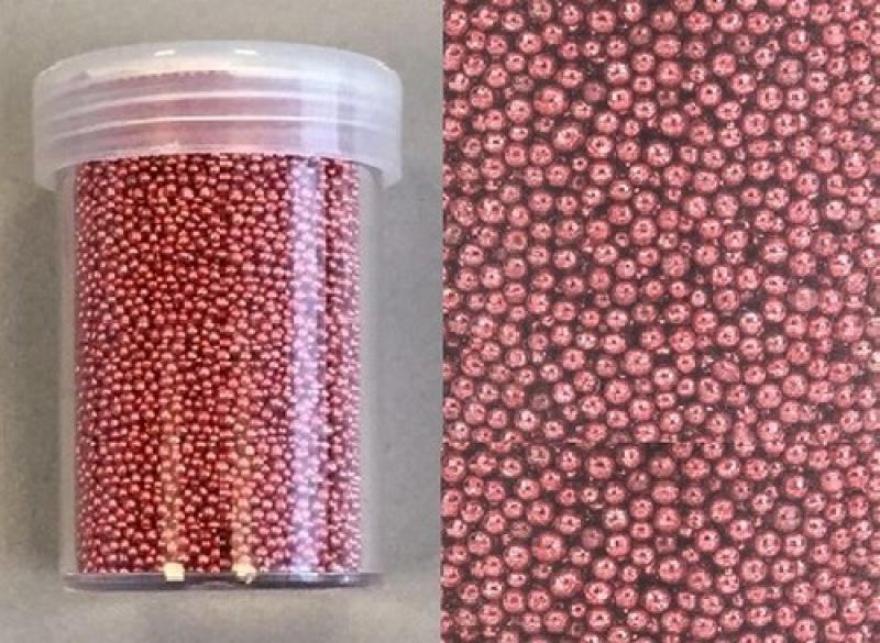 Hobby & Crafting Fun mini pearls (holeless) 0,8-1,0mm  22g Coral