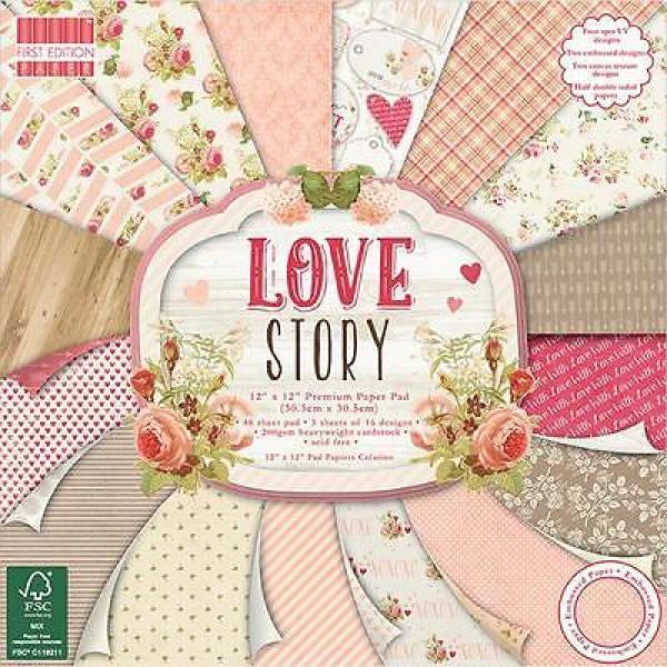 Paberiplokk 30x30 First Edition Love Story