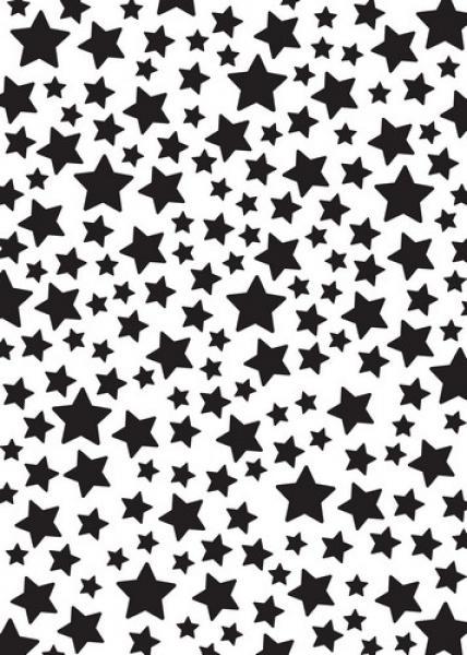 Nellie's Choice Mixed Media Stencil A5 - Stars
