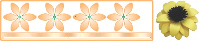 Cheery Lynn Designs Dies - Black Eyed Susan Strip