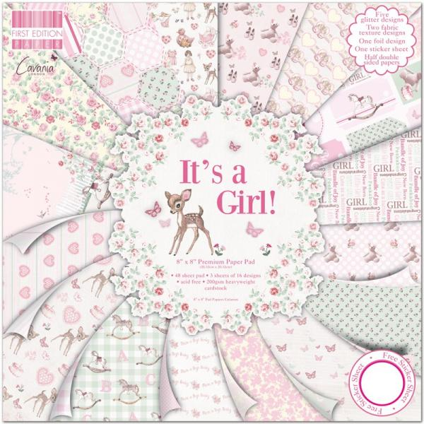 Paberiplokk 20x20 First Edition Pad Its a Girl