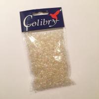 2e89fbf0ab3 Plastikpärlid 25g, läbipaistev hologramm, Colibry, 3x6mmmm