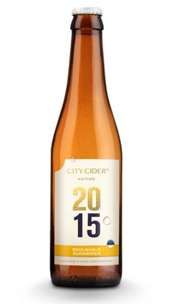 City Cider poolmagus õunasiider 2015 5,5% 0,33cl