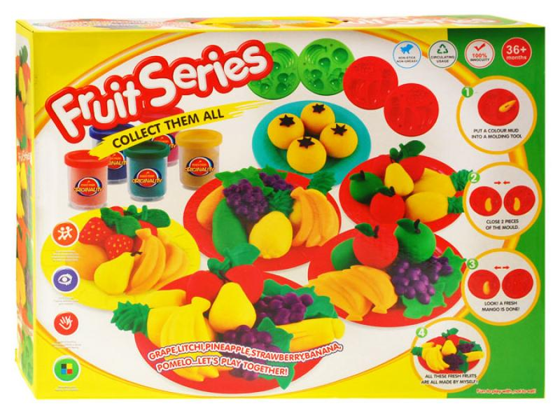 Soft Playset for Kids Mold and Play Vegetables and Fruits
