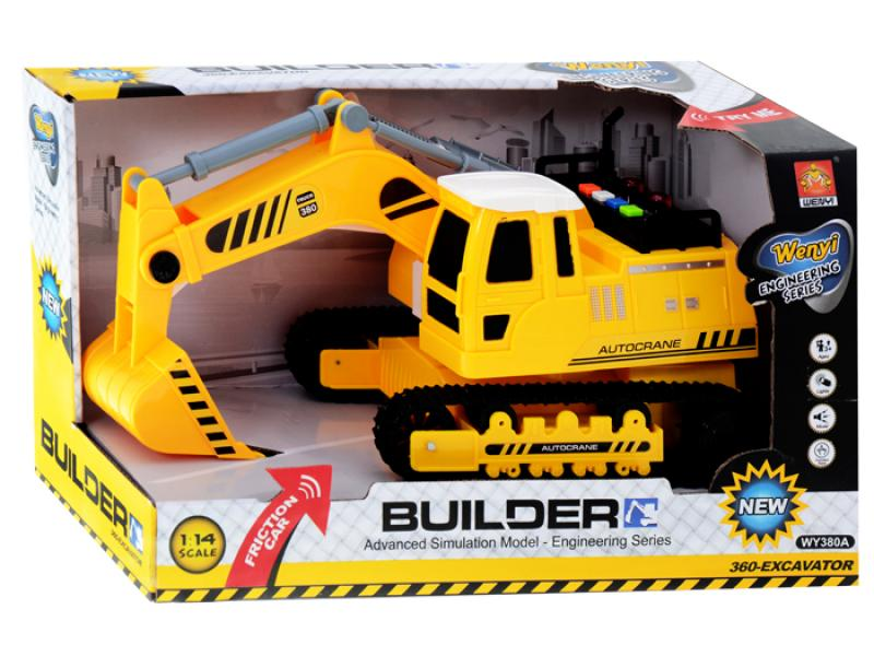 Excavator Builder with light and sound