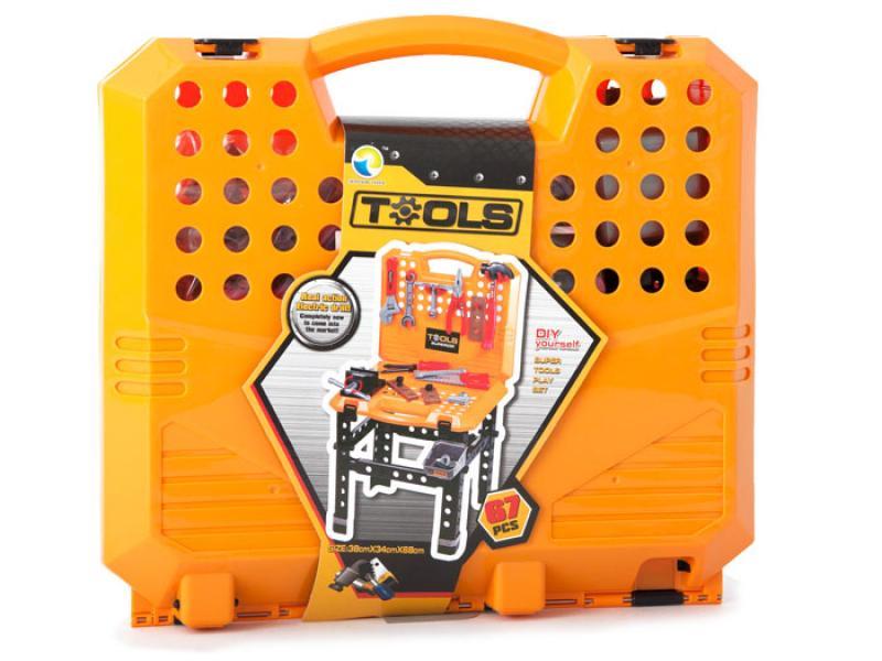Игровой стол-чемодан с инструментами, 67 предметов