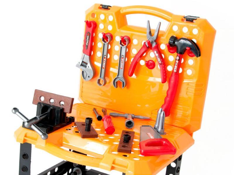 Tööriistalaud-kohver tööriistadega, 67 osa Kollane