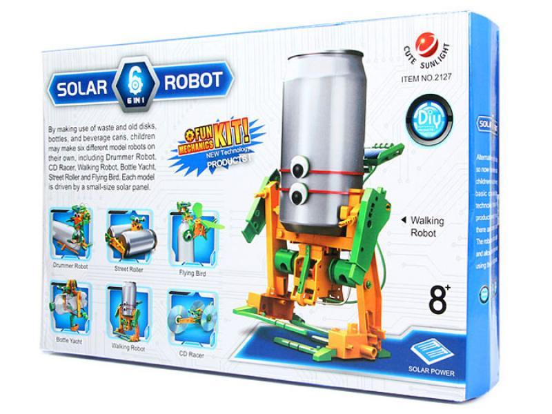 Päikesepatareiga Robot 6 in 1