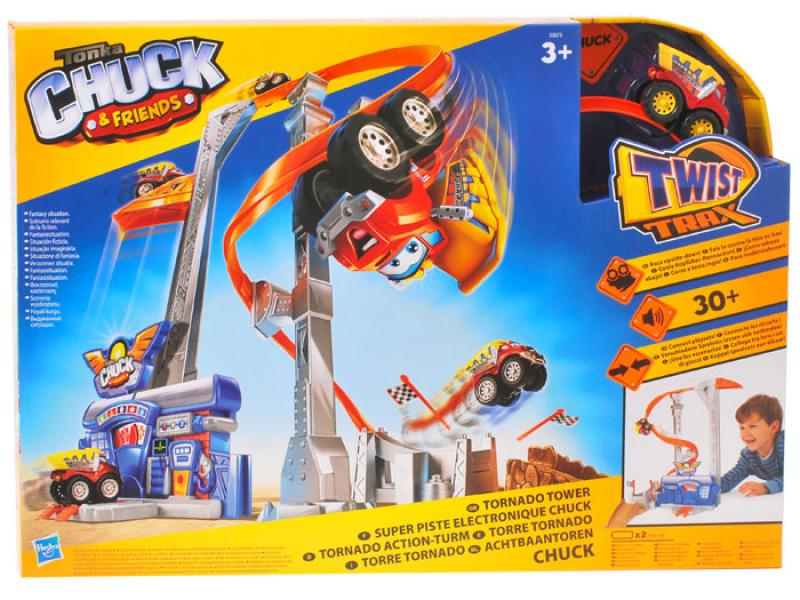 """Игровой набор Башня """"Ураганные горки"""" с самосвалом Чаком"""
