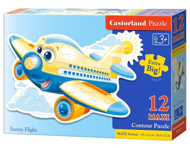 """Pusle Castorland 12 tk """"Sunny Flight"""" / Plaatpuzzle Suured Osad"""