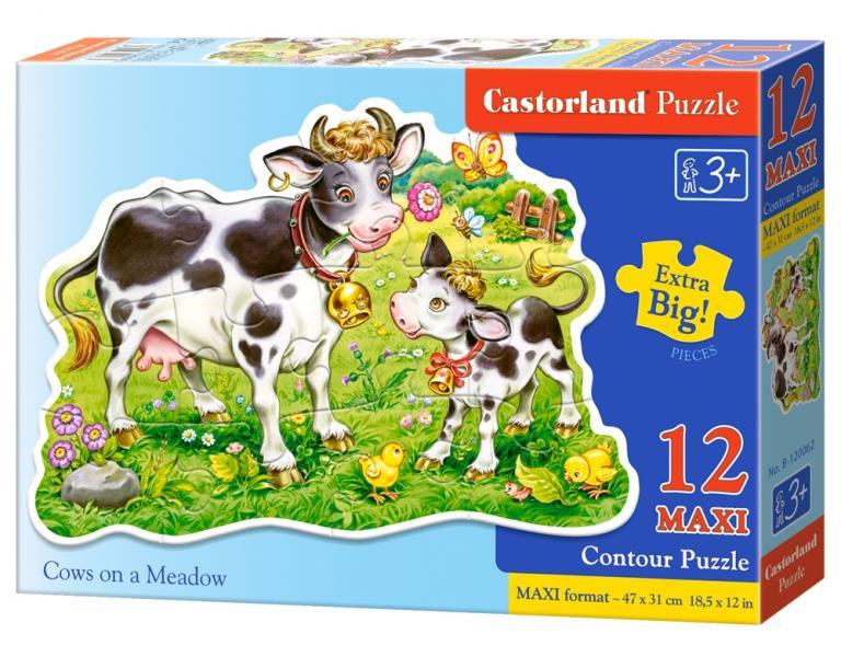 "Пазл Castorland ""Cows on a Meadow"" 12 Больших деталей"