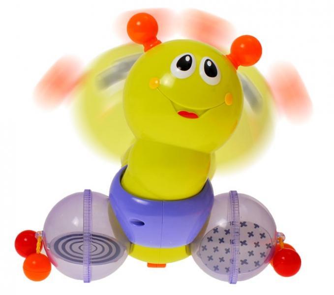 Развивающая и  музыкальная игрушка Каталка - Гусеница