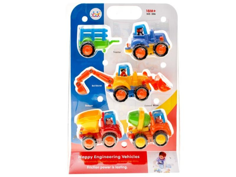 Happy Engineering Vehicles 4 pcs